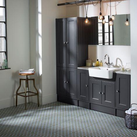 Burford Slate Grey Fitted Bathroom Furniture | Roper Rhodes