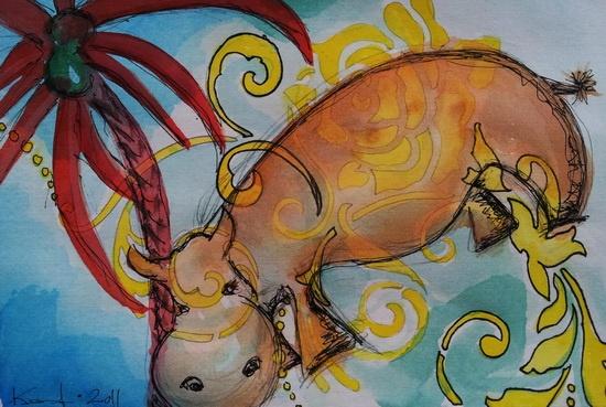 12 x 18 cm.  - sold © kesterart.com   Kirsten K. Kester