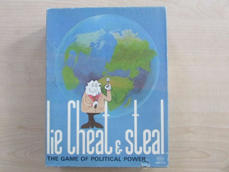 VINTAGE LIE CHEAT STEAL 1971 BOARD GAME BY CONTACT INCOMPLETE