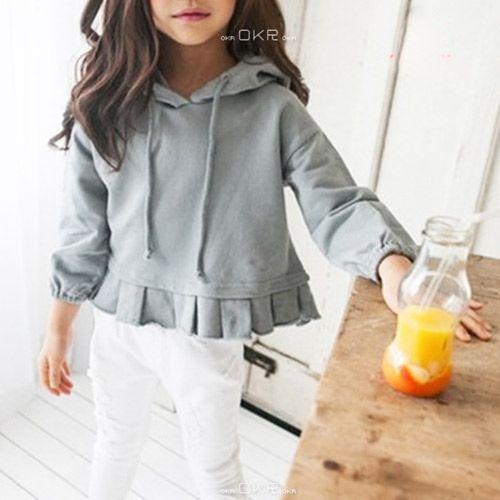 002ca6d941fc7 TinyPokke  s selection 裾プリーツパーカー(グレー)-Tシャツ- 女の子 ...