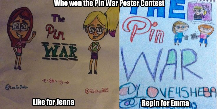 Like for me Repin for Emma Whoever gets the most wins for the poster contest!