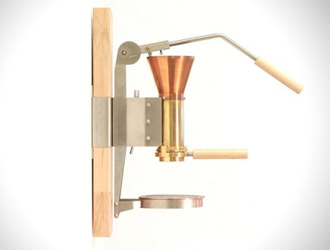 Feel like a diabolical villain pulling a wall-mounted lever - not to set off some explosive chain of events, but to make yourself a dainty little cup of espresso. The sleek copper and birch Streitman ES3 Espresso Machine uses a rarely-seen Italian technique developed in the 1950s to produce the  ...