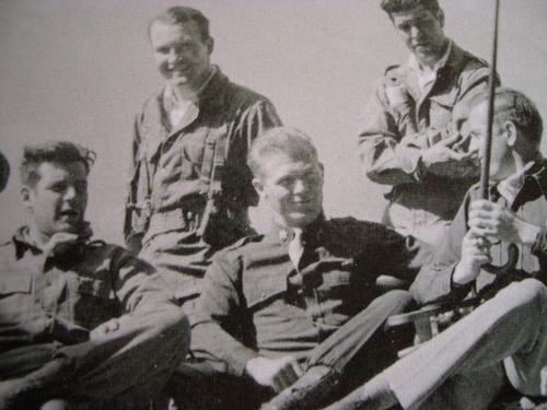 Lewis Nixon and Dick Winters in Berchtesgaden. Two amazing soldiers!