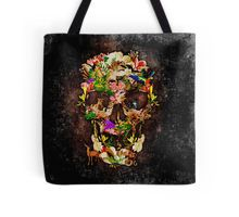 Animal Kingdom Sugar skull Tote Bags #ToteBags #bags #fashion #deer #wolf #snake #skull #skeleton #dayofthedead #diasdemuertos #jackskellingtons #halloween #scary #thenightbeforechristmas #animal #bone #tattoo #hippie #hipster #aztec #maya #indian #feather #bird #butterfly #mexico #mexican #hauntedmansion #ghost #monster #sugarskull