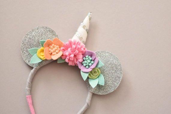 Unicorn mouse ears headband rainbow sherbet silver - Como hacer sorbete de cava ...