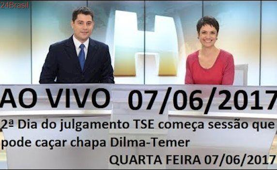 Jornal  Hoje 07/06/2017   2ª Dia do julgamento TSE começa sessão que pode caçar chapa Dilma-Temer