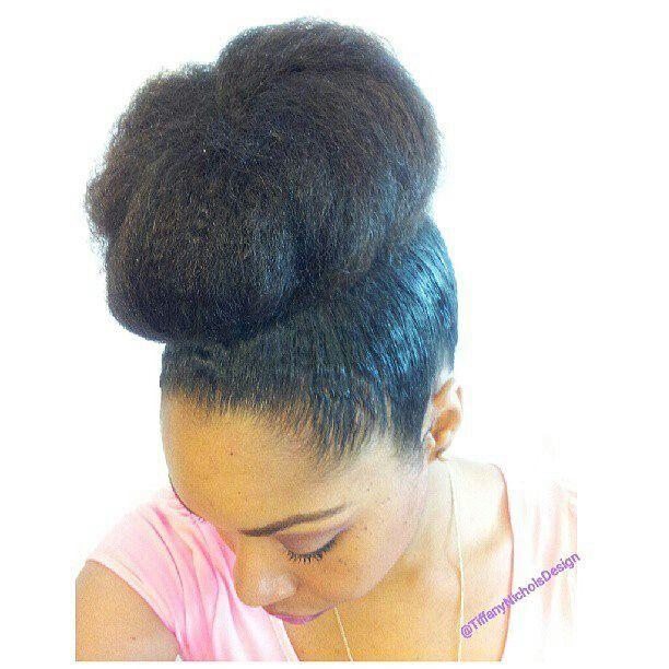 Love this bun! | Natural HairStyles | Pinterest