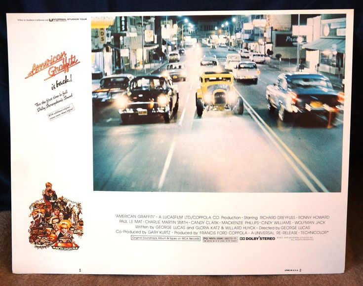 Excited to share the latest addition to my #etsy shop:  American Graffiti Original 1973 Movie Lobby Card - Richard Dreyfuss, Ron Howard, Harrison Ford http://etsy.me/2A8n72t