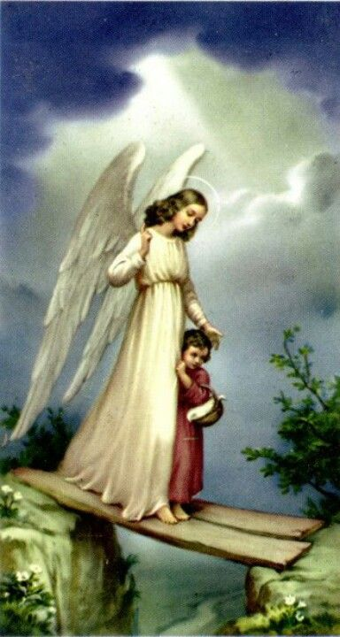 Guardian Angel - People who study angels believe that the light of an angel is so intense because they originate from the highest light source: God.