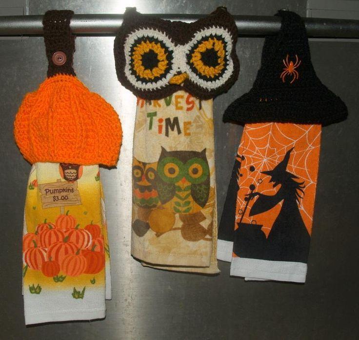 crochet top towel pattern free | Crocheting: Crochet Owl, Pumpkin,Witch Hat Towel Top