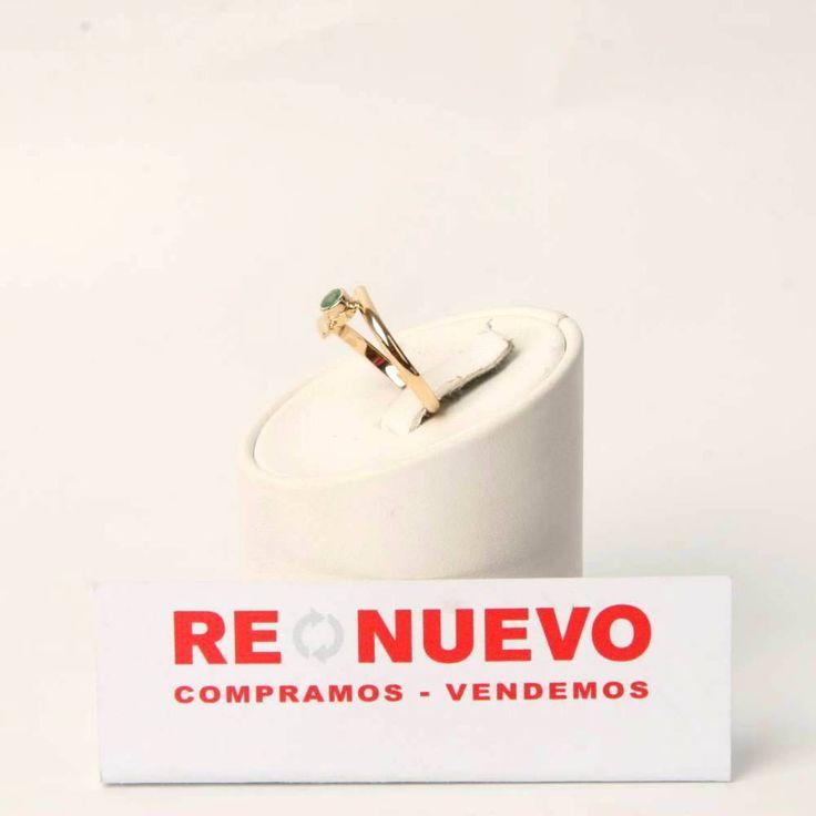 Anillo de segunda mano para mujer de oro con una esmeralda E276662F | Tienda online de segunda mano en Barcelona Re-Nuevo