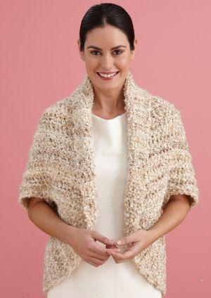Cute Bolero Free Crochet Patterns : Simple crochet, Crochet shrugs and Lion brand on Pinterest