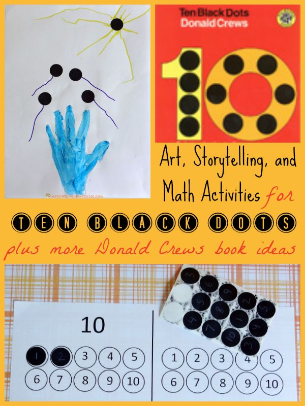 Free 10 Black Dots Number Circles Printable (and link to Free Number Circles for Counting Flowers) from Inspiration Laboratories