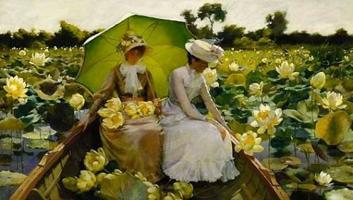 Charles Courtney Curran Lotus Lilies  1888. So beautiful!
