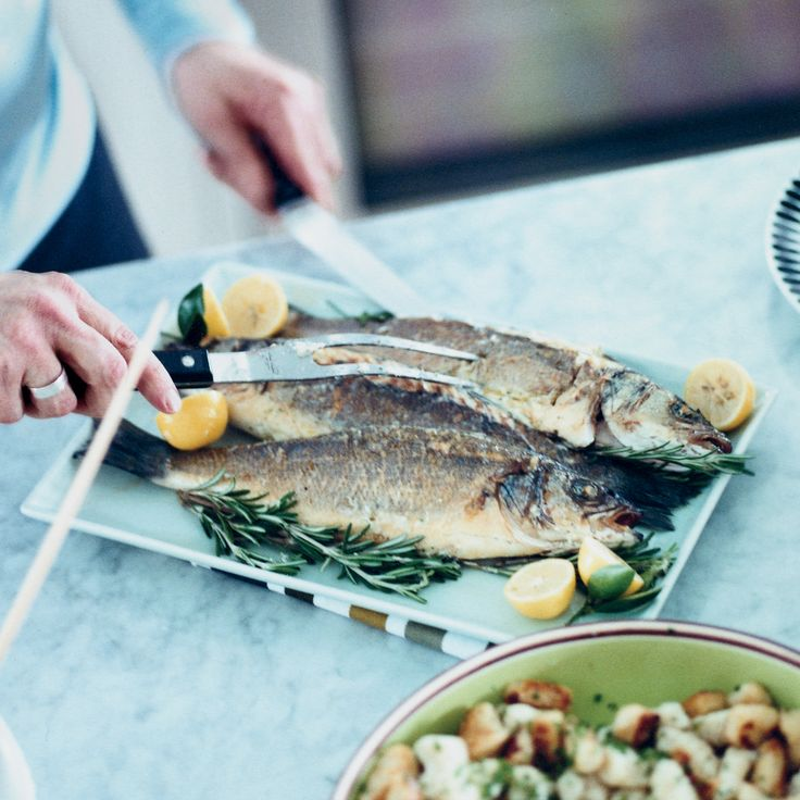 32 best sea bass recipes images on pinterest seafood for Roasted fish recipe