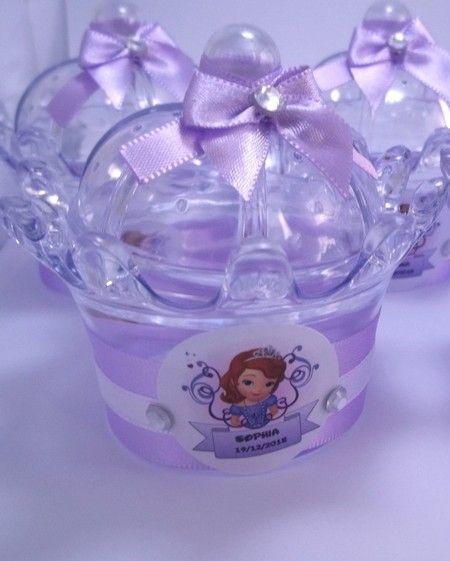 Princesa Sofia - Mini Cúpula Coroa - ArtesaNadia