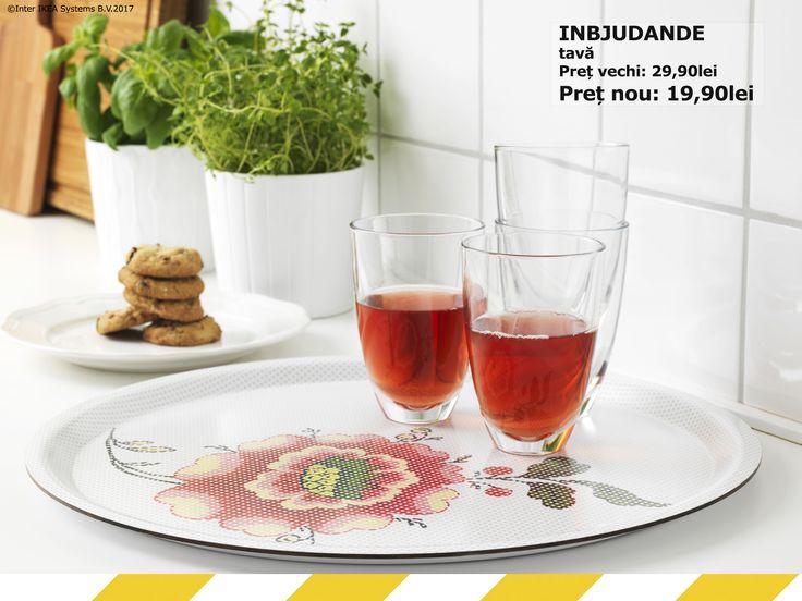 Tava INBJUDANDE este gata să te întâmpine cu flori și să te servească cu un ceai răcoritor. INBJUDANDE tavăPreț vechi: 29,90 leiPreț nou: 19,90 leiÎn perioada 17 iulie - 20 august ai până la 50% reducere la o mulțime de produse, în magazin și online. Produsele sunt disponibile în limita stocului.