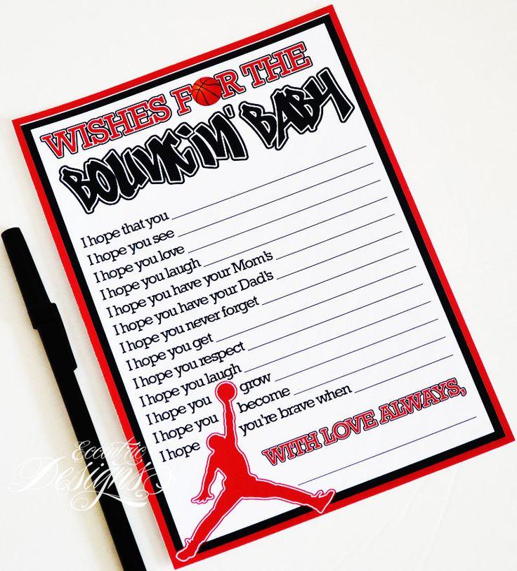 Air Jordan / Jumpman / Chicago Bulls / Michael Jordan   Baby Shower Game