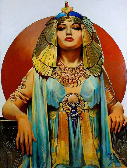 Pin-up Girls of History-CleopatraCleopatra Art, Clive Cleopatra, Vintage Illustration, Fine Art, Pinup Girls, Moon Gallery, Cleopatra 1946, Pin Up Girls, Henry Clive