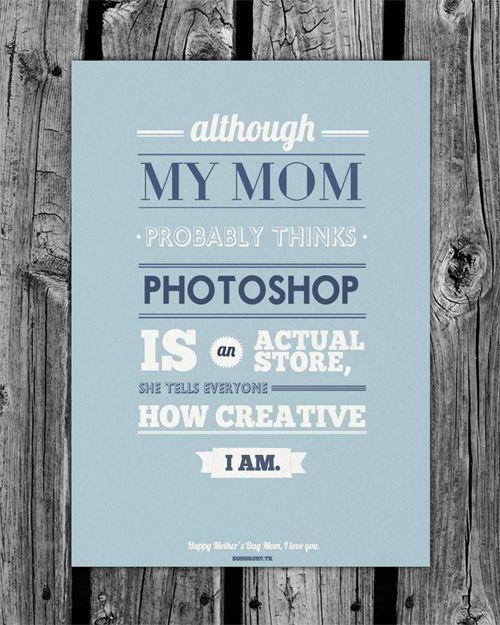 my mom.