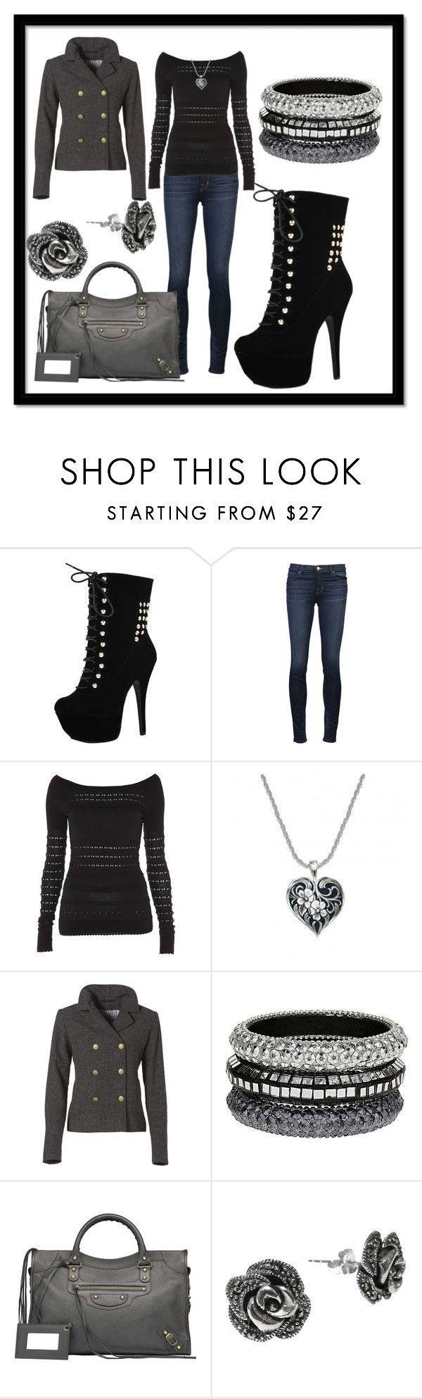 """Black and Gray"" by yadira-hernandez ❤ liked on Polyvore featuring Dollhouse, J Brand, Temperley London, GANT, Dorothy Perkins, Balenciaga, Goldmajor, pea coats, jeans and fall"