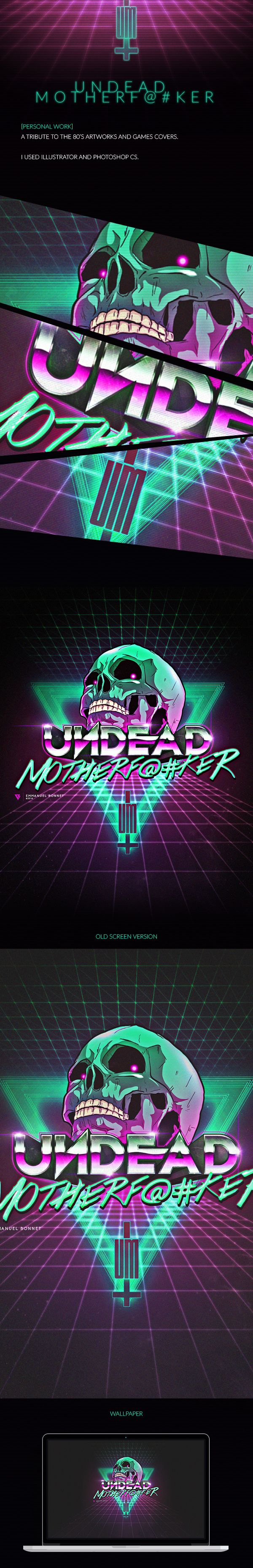 80s poster design - Undead On Behance