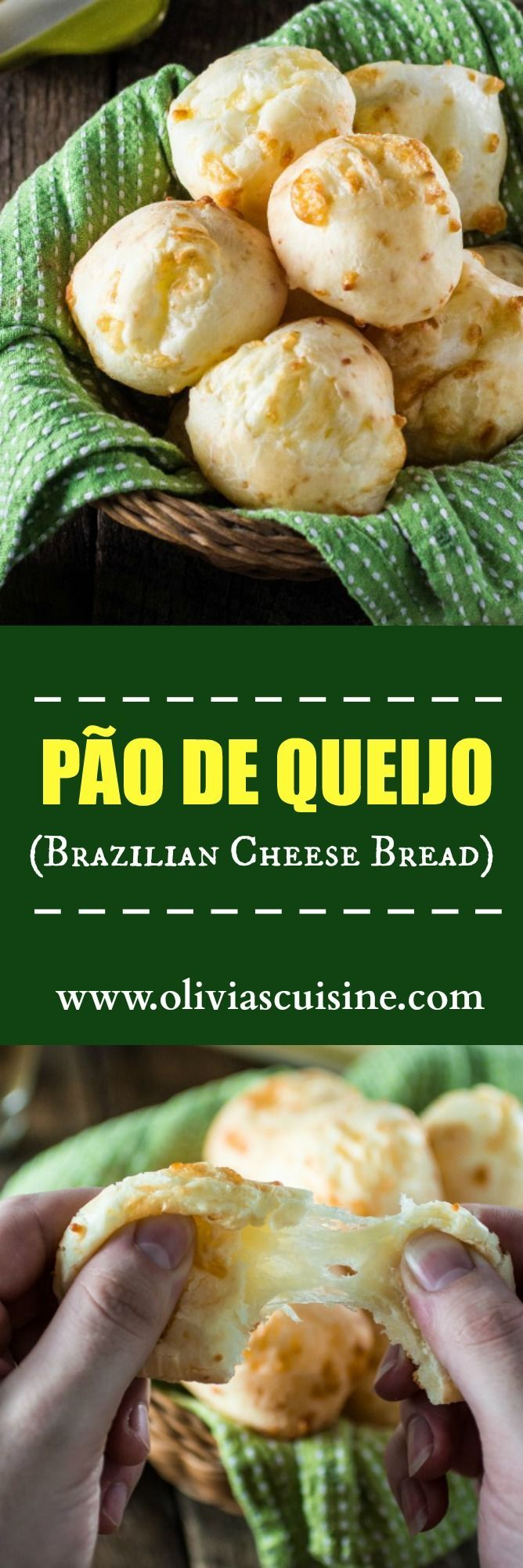 Authentic Brazilian Cheese Bread (Pão de Queijo) | http://www.oliviascuisine.com | The most popular Brazilian snack is gluten free and loaded with gooey cheese. You'll be hooked!