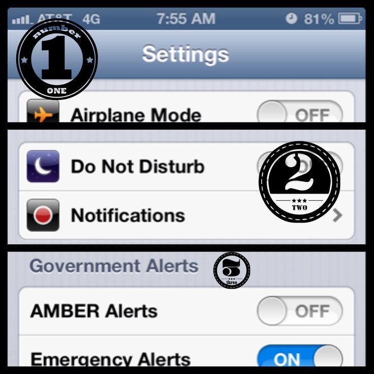 how to turn off the light alert on iphone 5