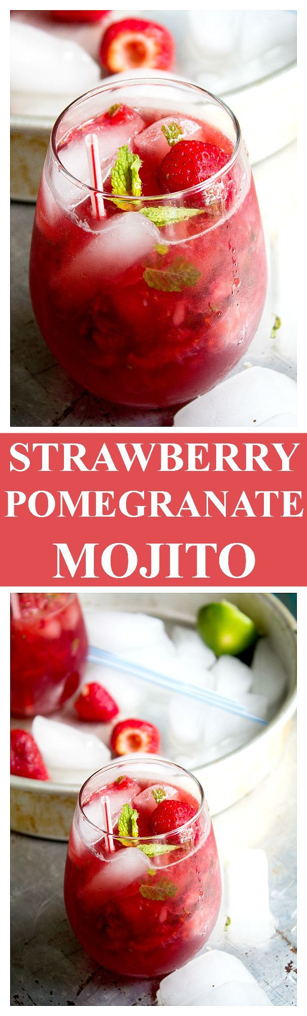 Strawberry Pom Mojito