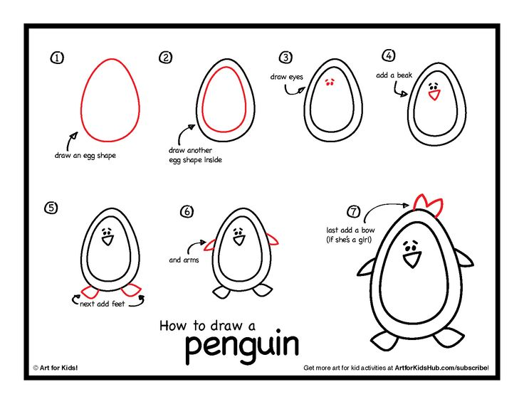 To download the free instructions click the image below, then right click to save. download how to draw a penguin