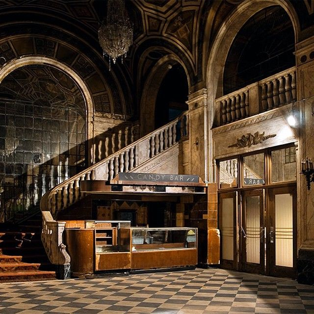 Lobby and Candy Bar. Abandoned theater in Bridgeport, Connecticut