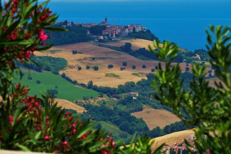 Fermo, Marche, Italy - View from the Duomo, countryside and sea - by Gianni Del Bufalo