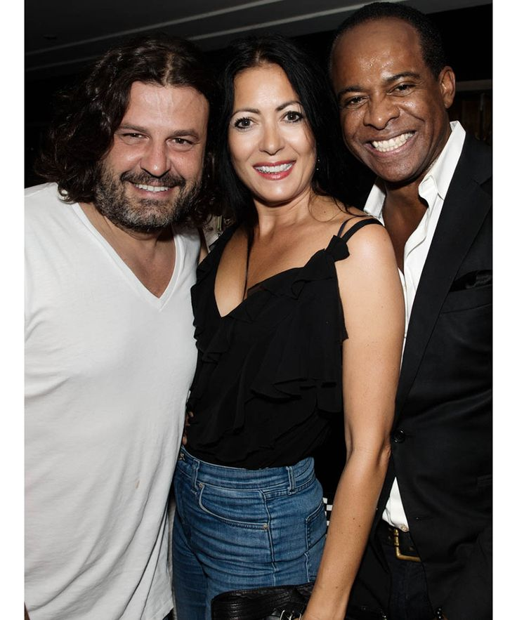 Inside the cocktail soirée at Omar's in NYC to benefit the Children's Justice Campaign. Pictured above, Domingo Zapata, Catherine Malandrino, Frederick Anderson.