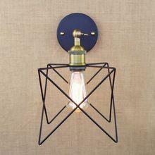 Industriële retro antieke gouden metalen draad ster wandlamp voor werkkamer…
