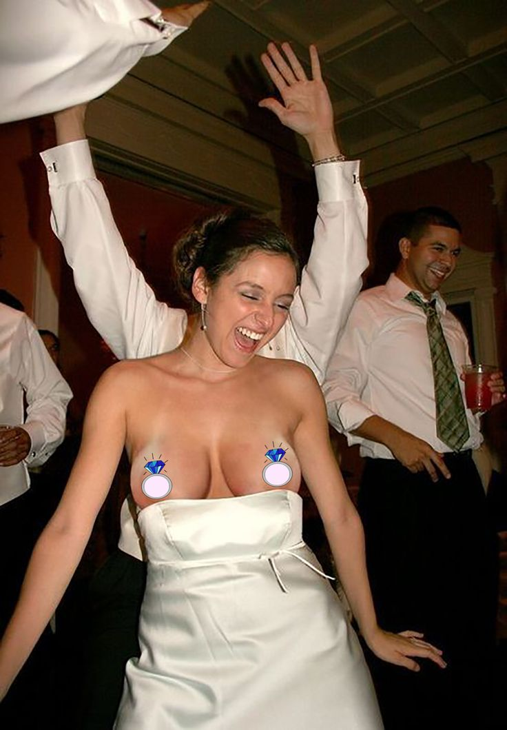 slips nude nipple Wedding