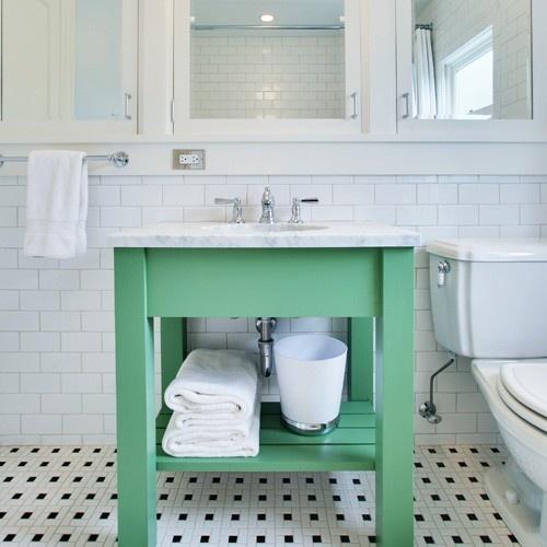 Bathroom Vanity Pulling Away From Wall: Fun Bright Bathroom Vanity