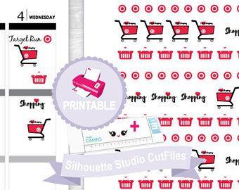 Target planner stickers, printable planner stickers, target run planner stickers, happy planner stickers, erin condren stickers, tn planner