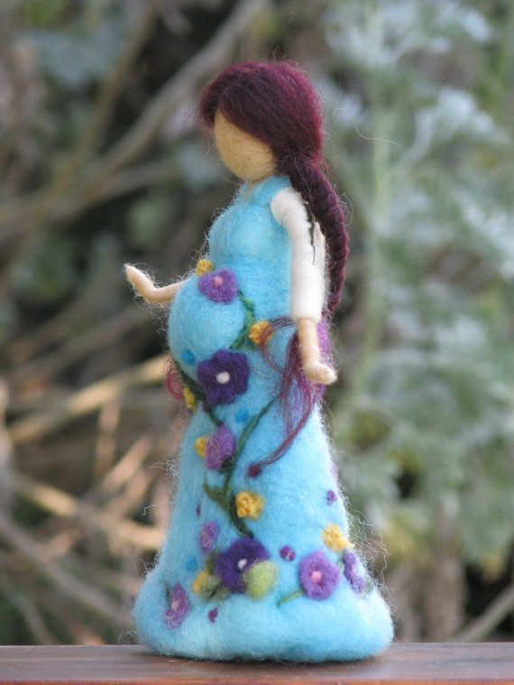 Waldorf-inspired, needle-felted doll ... gorgeous work! <3