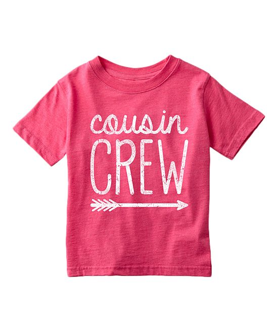 Heather Hot Pink 'Cousin Crew' Tee - Toddler & Girls