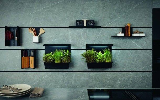 Indoor Kuchengarten In Zukunft Wachsen Die Krauter Gleich Am Herd Kleine Kuche Kuchendesign Modern Inneneinrichtung