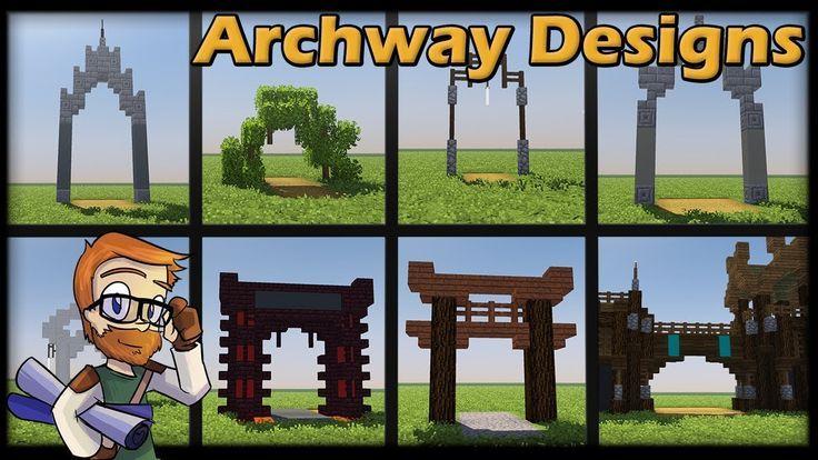 MINECRAFT 1.12 :: 8 Archway CONCEPT DESIGNS [WORLD DOWNLOAD]