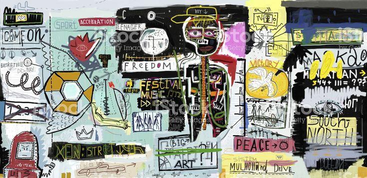 Graffiti royalty-free stock vector art