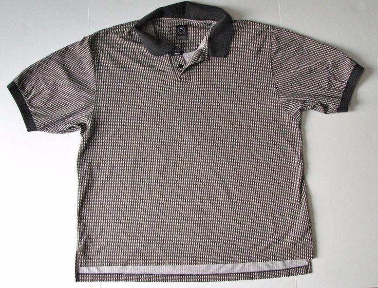 Nike Golf Men's polo Short Sleeve Shirt Black  Brown Beige XXL 2XL Cotton #NikeGolf #PoloRugby