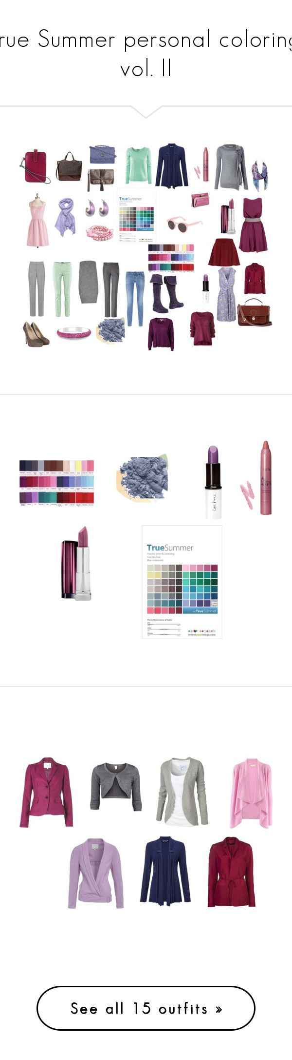 """""""True Summer personal coloring, vol. II"""" by in-vero-pulcritudo ❤ liked on Polyvore featuring tarte, INIKA, Whyred, River Island, Sole Society, The Row, Blugirl, DueDiTacchi, HOBO and Jane Carr"""