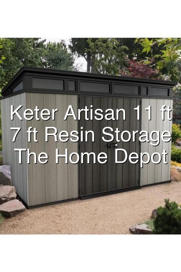 Keter Artisan 11 Ft X 7 Ft Resin Storage Shed241735 The Home Depot In 2020 Resin Storage Home Depot The Home Depot