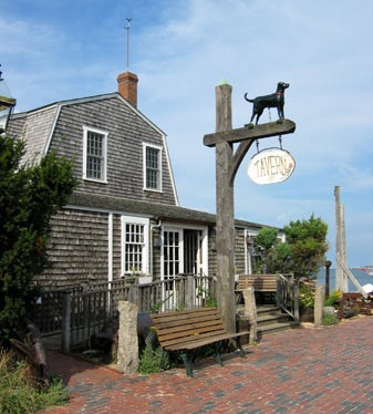"I would make my way to Martha Vinyard's Black Dog Tavern for a waterside dinner with my ""forever beau""  #ridecolorfully"
