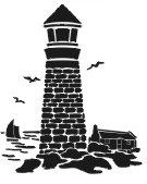 Another free lighthouse stencil