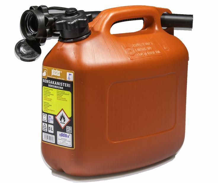 Punainen kotimainen bensakanisteri. Sopii talvella erinomaisesti vaikka moottorikelkkailuun! Turvallinen valinta - Plastex