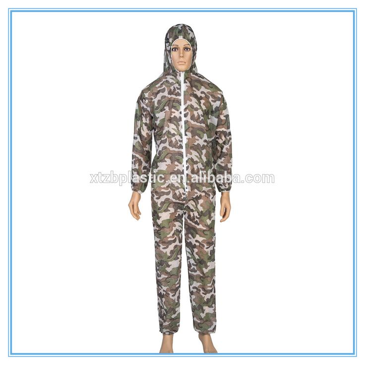 Disposable spray painting coverall suit with hood painter overalls