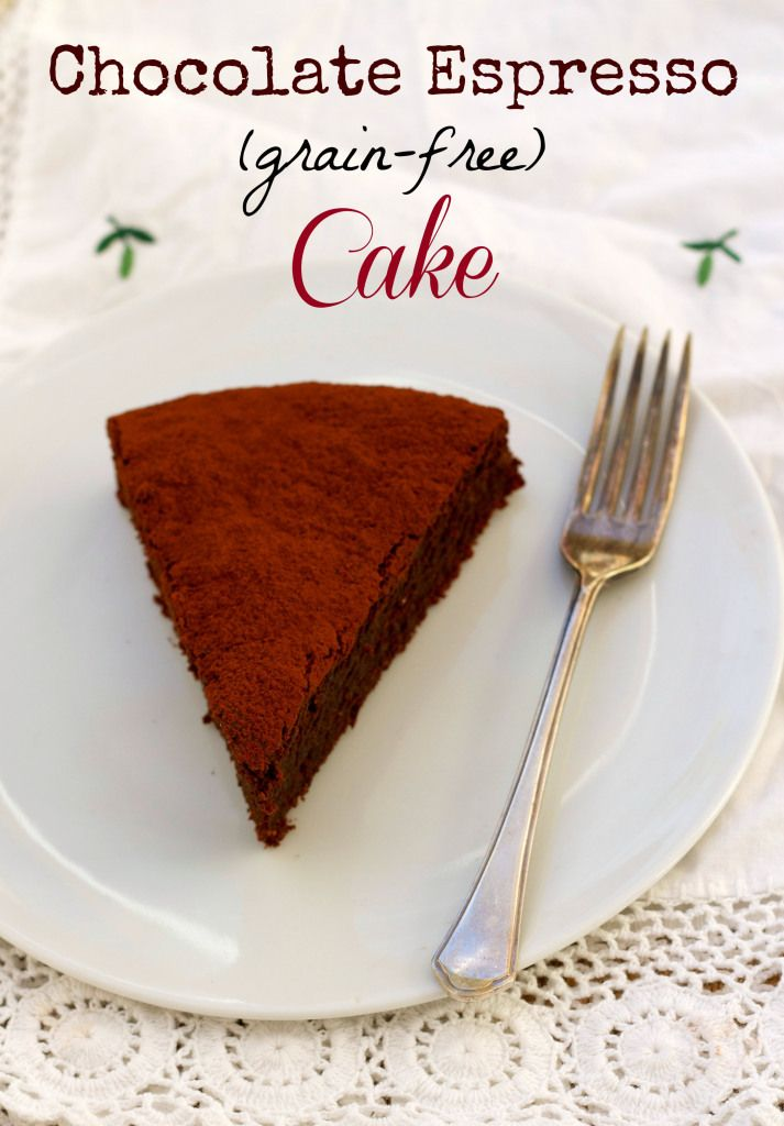 Chocolate espresso cake– grain-free and totally delicious.